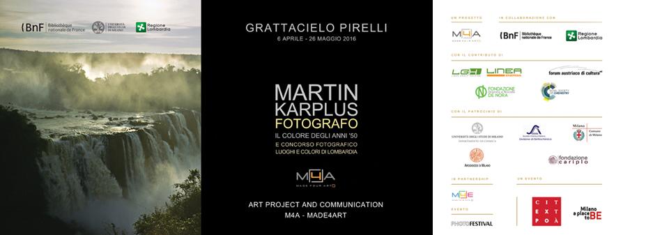 Il Grattacielo Pirelli ospita la prima mostra personale in Italia di Martin Karplus fotografo, vincitore del Premio Nobel per la Chimica nel 2013