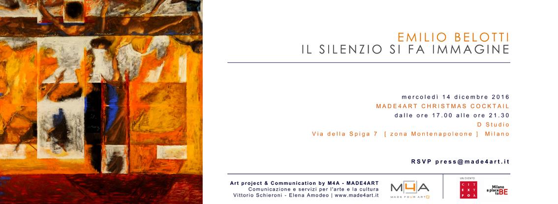 Made4Art di Milano presenta la personale di Emilio Belotti Il silenzio si fa immagine con una selezione di opere pittoriche e sculture